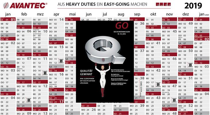 GO Nummer 10 Kalender