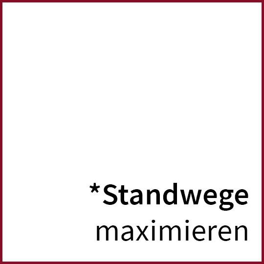 Standwege maximieren